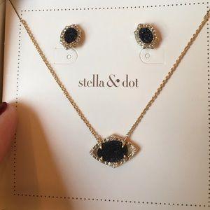 Stella & Dot Charlotte druzy pendant set